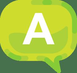 """A"" [questions] speech bubble"