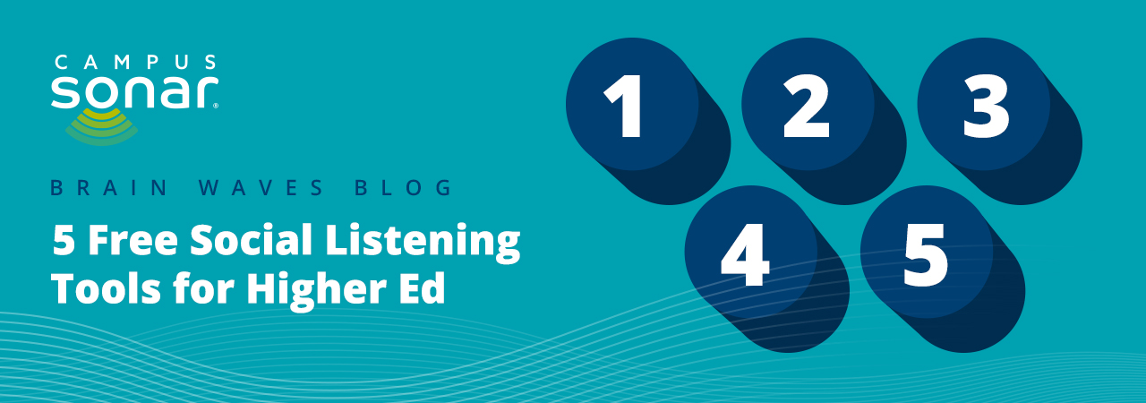 Blog post image for 5 Free Social Listening Tools for Higher Ed