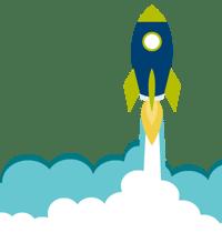 Rocketship taking flight