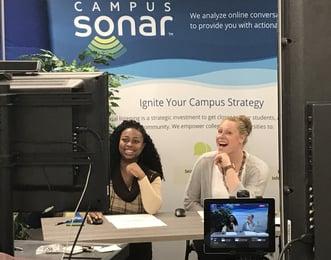 Dana and Renola Behind the Camera During Campus Sonar Live
