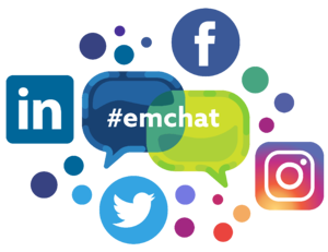 Emchat and social media connected