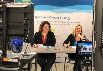 Emily Prell and Ashley Tanner explaining the Social Listening Snapshot