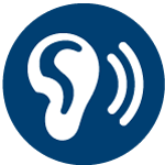 Ear icon indicating listening