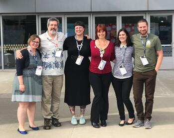 Liz Gross, Jeff Stevens, Connie Liegl, Rebecca Stapley, and Kris Hardy at HighEdWeb 2019