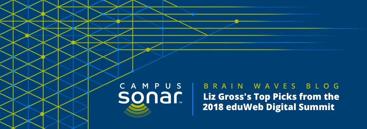 Campus Sonar blog image for Liz Gross's Top Picks from the 2018 eduWeb Digital Summit