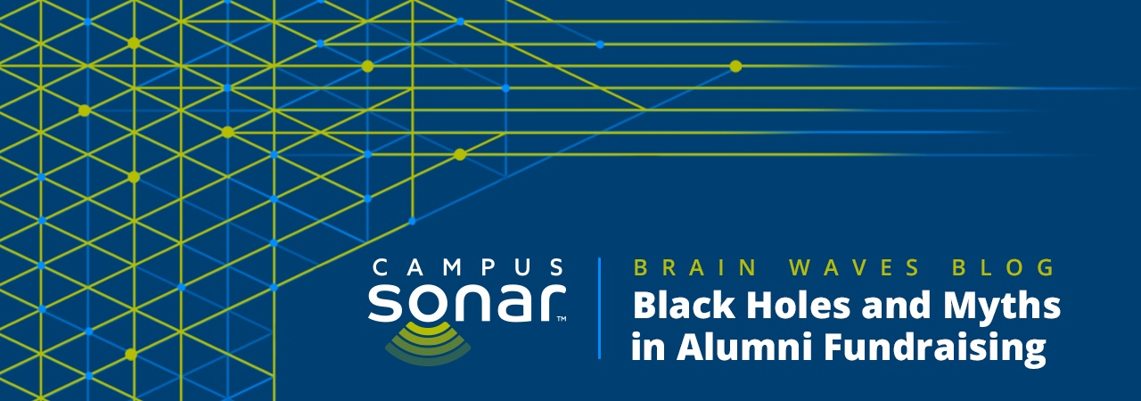 Campus Sonar blog image for Black Holes and Myths in Alumni Fundraising Blog