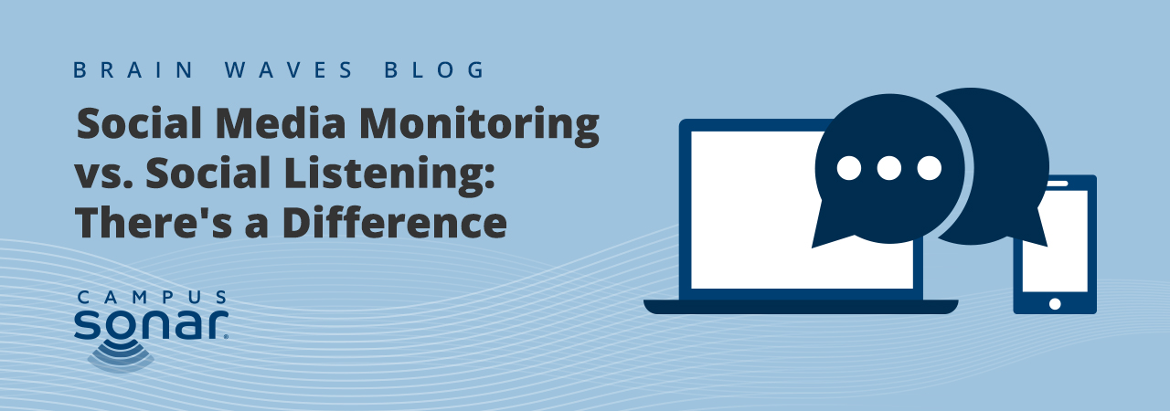 Blog post image for Social Media Monitoring vs. Social Listening: There's a Difference