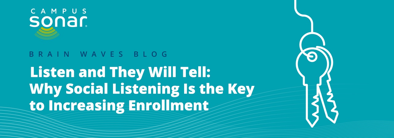 Campus Sonar blog post Listen and They Will Tell: Why Social Listening Is the Key to Increasing Enrollment