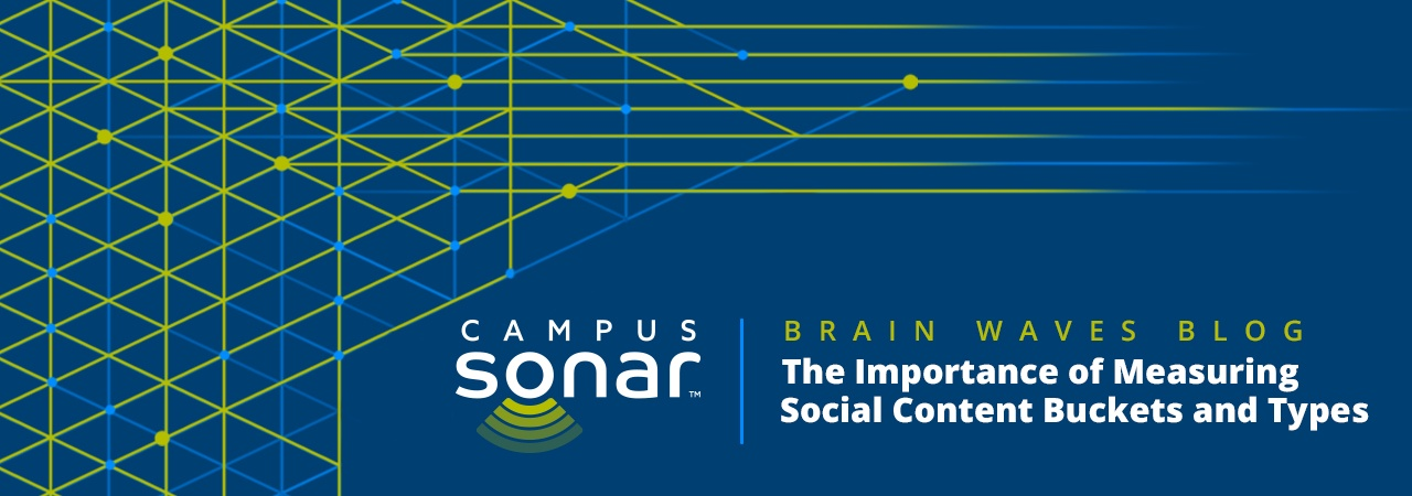 Campus Sonar blog image for The Importance of Measuring Social Content Buckets and Types Blog