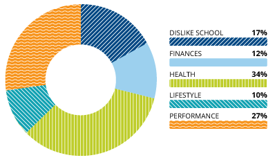 Donut Chart of Reasons Students Drop Out of College