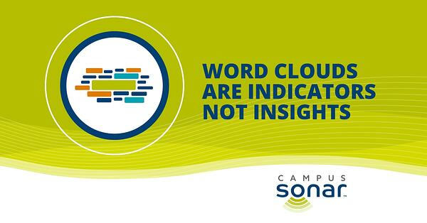 Campus Sonar blog image for Word Clouds Are Indicators Not Insights