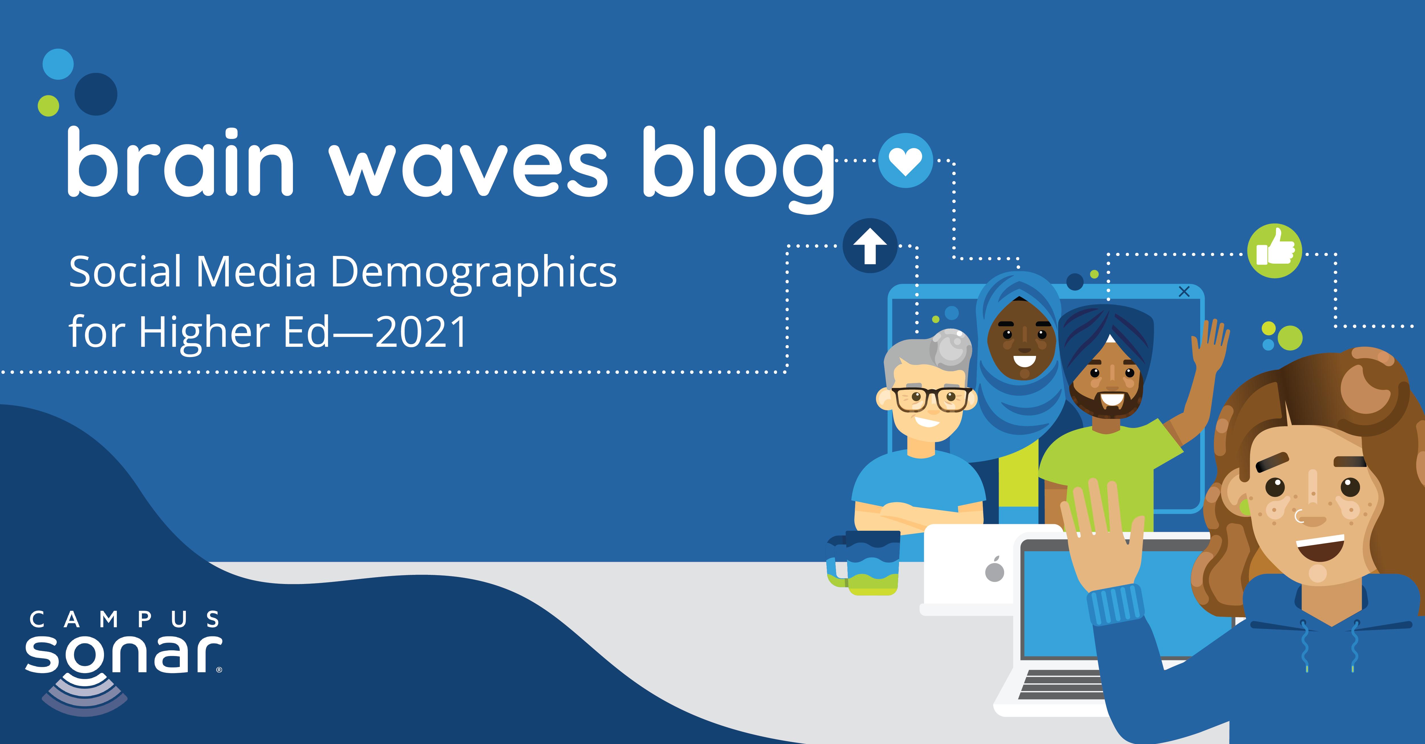 Brain Waves Blog: Social Media Demographics for Higher Ed - 2021